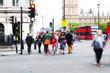 Menschen unterwegs in London