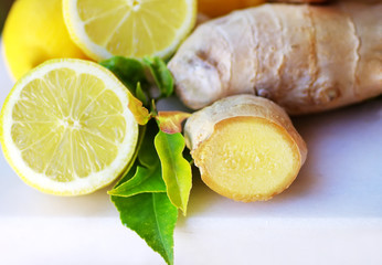 Lemon with ginger