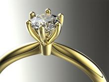 Or Bague de fiançailles avec diamant. Bijoux fond