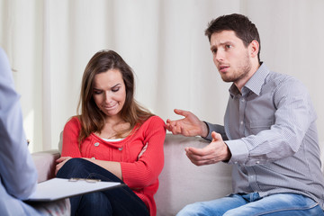 Marriage problems at psychotherapy