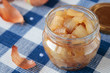 Jar with confiture of onions