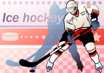Illustration of ice hockey