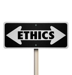 Ethics Two Way Road Sign Right Vs Wrong Good Bad Choice