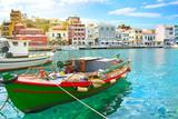 Fototapety Boat. Agios Nikolaos. Crete