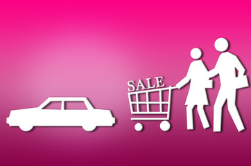 abstract sale shopping couple