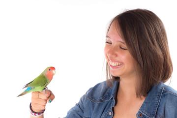 la jeune fille et l'oiseau