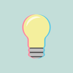 bulb icon with colored shadow