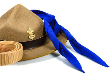 brown brim hat (hat of scout)