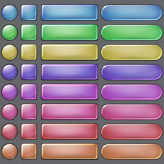Colored web buttons