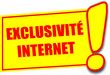 étiquette exclusivité internet