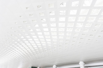 ceiling of modern building