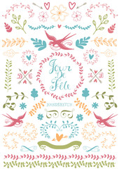 Floral doodle collection