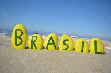 Brasil, souvenir on yellow stones