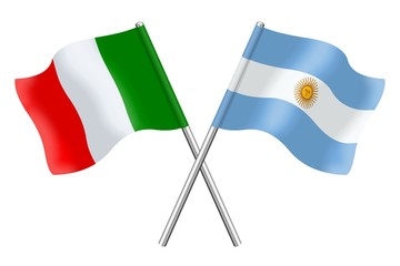 Flags : Italy and Argentina