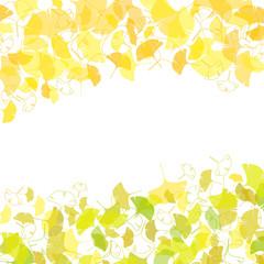銀杏の葉のフレーム