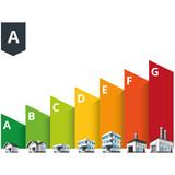 Fototapety Building Energy Efficiency Classes Label