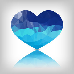 blue vector heart