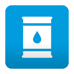 Etiqueta tipo app azul simbolo bidon de petroleo