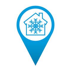Icono localizacion simbolo aire acondicionado