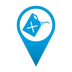 Icono localizacion simbolo bidon de gasolina
