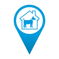 Icono localizacion simbolo residencia canina