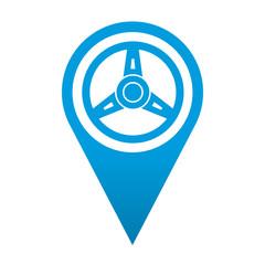 Icono localizacion simbolo volante