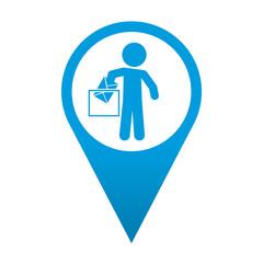Icono localizacion simbolo voto