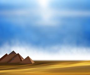 Desert pyramid blue sky.
