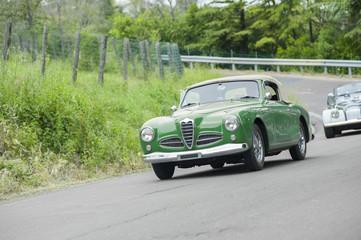 Green vintage car