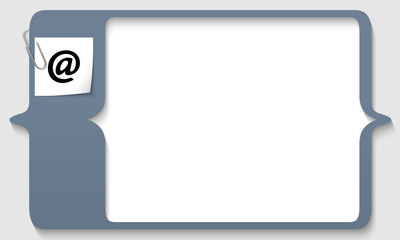 text box for any text with email icon and paper clip