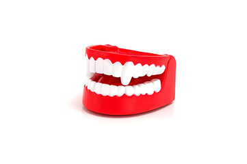 Funny Dracula teeth toy.