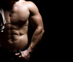 torso of a bodybuilder man