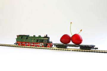 Kirschen express_Obst Zug