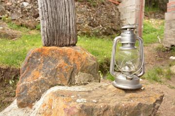 lampara vintage de mineria