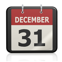 December 31, New Year eve calendar