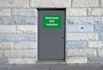 Tür, Notausgang