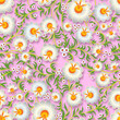 abstract seamless floral ornament with spring flowers