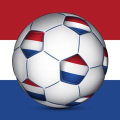 Netherland soccer ball, vector