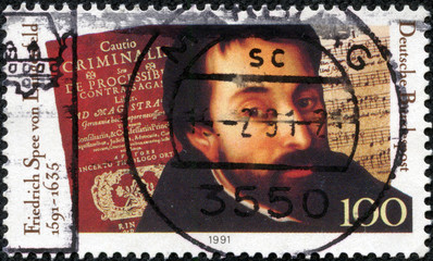 stamp dedicated to Friedrich Spee von Langenfeld