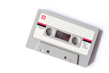 Old dusty cassette tape
