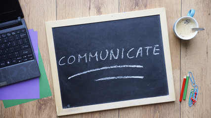 Communicate written