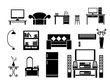 Living room Icon Set Vector Illustration