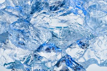 Ice. Blue background