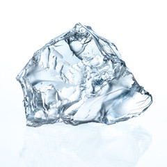 Ice cube isolated on white. With clipping path
