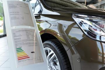 Information der Verbrauchswerte Neuwagen im Autohaus