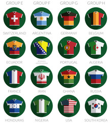 soccer flag shirt icons