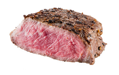 Beef steak isolated on white background