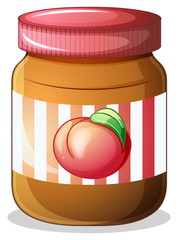 A bottle of fruit jam