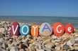 Voyage, french word of Jurney with stones