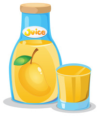 A bottle of mango juice